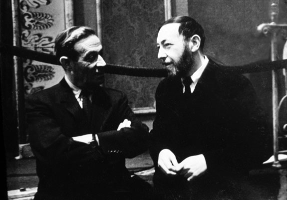 Joseph Blumenthal and Leonard Baskin