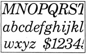 Century Schoolbook Italic