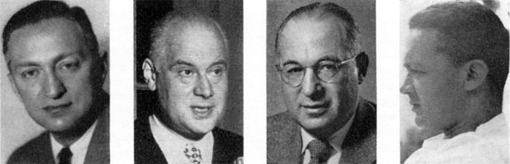Aaron Burns, Will Burtin, R. Hunter Middleton, Paul Rand