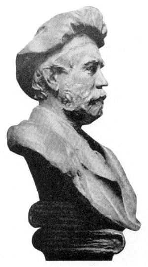 Theodore Low De Vinne bust