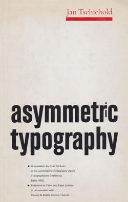 """Asymmetric Typography"" by Jan Tschichold"